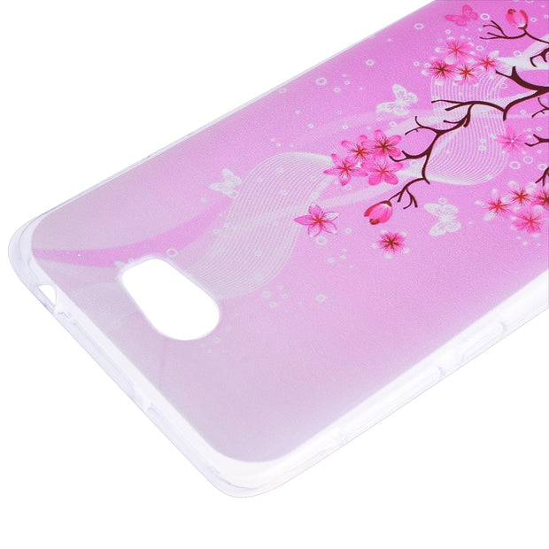 YOKATA Luxury Soft Case For HuaWei Y5 II Silicone Case For Pink Flower Pattern Transparent Back Cover For HuaWei Y5II
