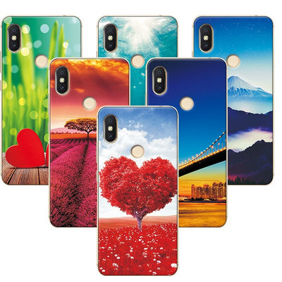 "YOUVEI Soft Silicone Case Cover For Xiaomi Redmi S2 Redmi S 2 5.99"" Scenery Rose Painted Phone Cases For Redmi S2 Fundas Capa"