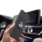 YOYODEER For Huawei Honor 9 Case Metal Finger Ring Magnetic Car Holder Soft Silicone Back Cover For Huawei Honor 9 Phone Cases