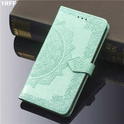 YRFF For Oneplus 6 Fashion Case 3D Emboss Mandala Flower Plant Phone Case Cover For One Plus Oneplus 6 Flip Leather Phone Case