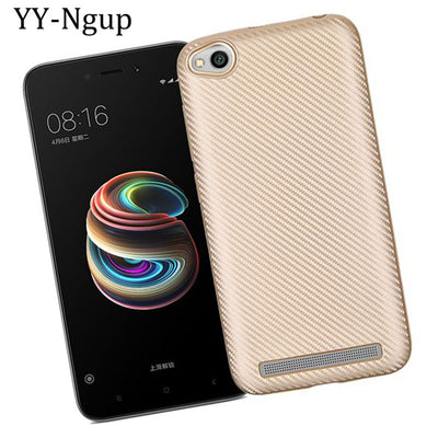 YY-Ngup Redmi 5a Carbon Fiber Shockproof Case On For Xiaomi Redmi 5A Case Soft Cover For Xiaomi Redmi Note 5A Prime Xiomi Cases