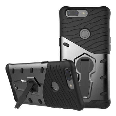 "YeeSite Armor Case For OnePlus 5T Stand Holder TPU+PC Hard Rugged Impact 6.01"" For OnePlus 5T Mobile Phone Cover"