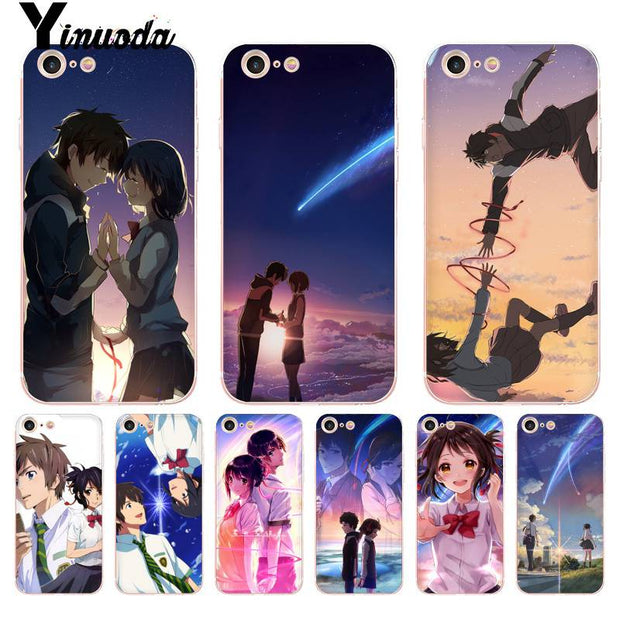 Yinuoda For Iphone 7 6 X Case Anime Your Name Kimi No Na Wa Coque Shell Phone Case For Iphone 8 7 6 6splus X 5 5s Se Xr Xs Xsmax
