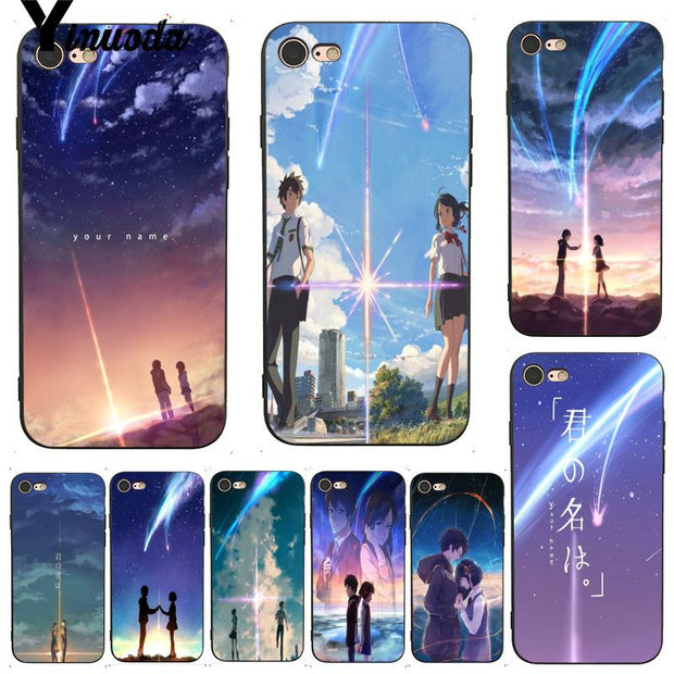 Yinuoda For Iphone 7 6 X Case Kiminonawa Your Name Japanese Anime Top Design Phone Case For Iphone 7 X 6 6s 8 Plus 5 5s Xs Xr