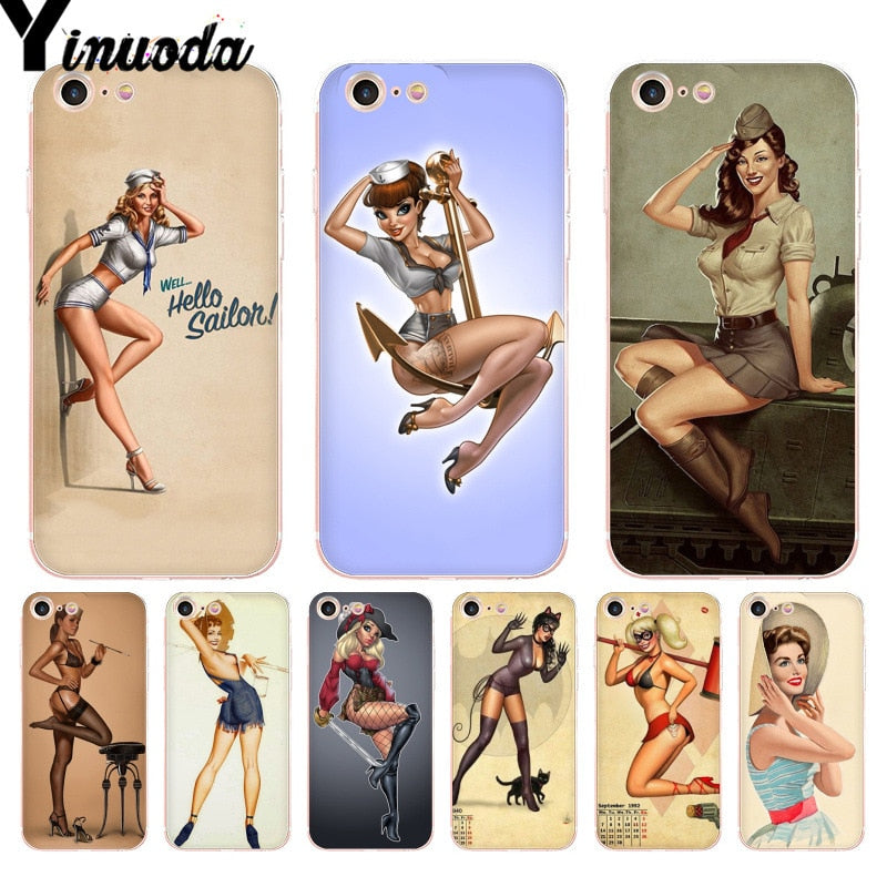 Yinuoda For Iphone 7 6 X Case PinUp Girls Pin Up Girl Phone Cover ...