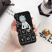 Yinuoda For Iphone 7 XSMAX Case Funny Cartoon Rick And Morty Luxury Phone Case For IPhone X 8 7 6 6S Plus X 5 5S SE XR XS XSMAX