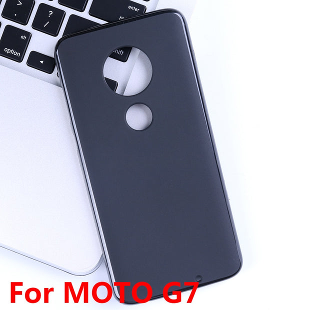 YisiSource Case For Motorola Moto G7 Capa Soft Silicon Gel Rubber Black Cover Matte Coque For Motorola Moto G7 Phone Case