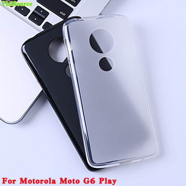 YisiSource Phone Case For Motorola Moto G6 Play Case Original Soft TPU Silicone Matte TPU Cover For Moto G6 Play Back Shell 5.7""