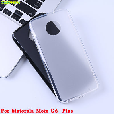 YisiSource Phone Case For Motorola Moto G6 Plus Case Original Soft TPU Silicone Case Cover For Moto G6 Plus Back Shell 5.9""