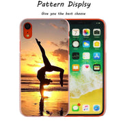 Yoga Design Hot Fashion Transparent Hard Phone Cover Case For IPhone X XS Max XR 8 7 6 6s Plus 5 SE 5C 4 4S