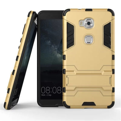 ZEALLION For Huawei Honor 5X 5A 8 / Mate 8 / V8 G8 / Nova Case 2 In 1 High Quality Hard Plastic Silicone Stents Cases Back Cover