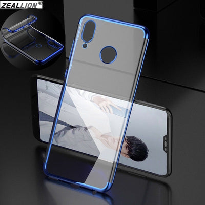 ZEALLION For Huawei P9 P10 P20 Lite Mate 8 9 10 Pro Nova 2i 3e Plating Transparent Case Silicone Clear TPU Soft Back Cover