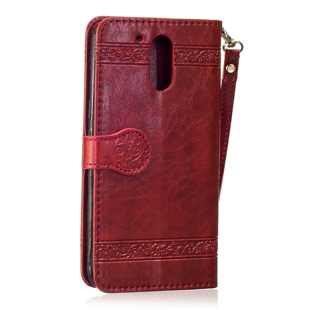 ZEALLION For Motorola Moto G4 Plus G4 Play Luxury Oil Wax Embossed PU Leather Magnetic Wallet Card Slots Flip Case Cover