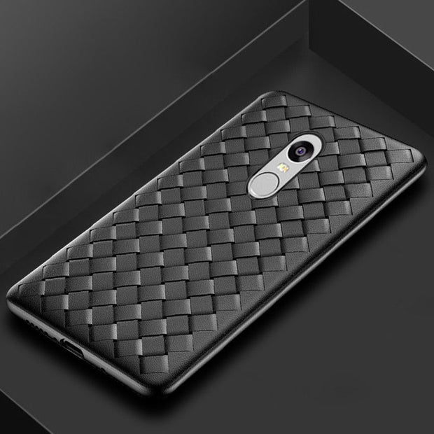ZEALLION For Xiaomi Redmi 3s 4A 5A 5 Plus Note 3 4 4X 5A 5 Plus Ultra Thin Grid Woven Pattern Case Soft Silicone Cover