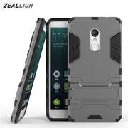 ZEALLION For Xiaomi Mi 4 4C 4S 5 5S Plus Redmi Note 3 4 3S Pro Case 2 In 1 High Quality Hard Plastic Silicone Stents Cover