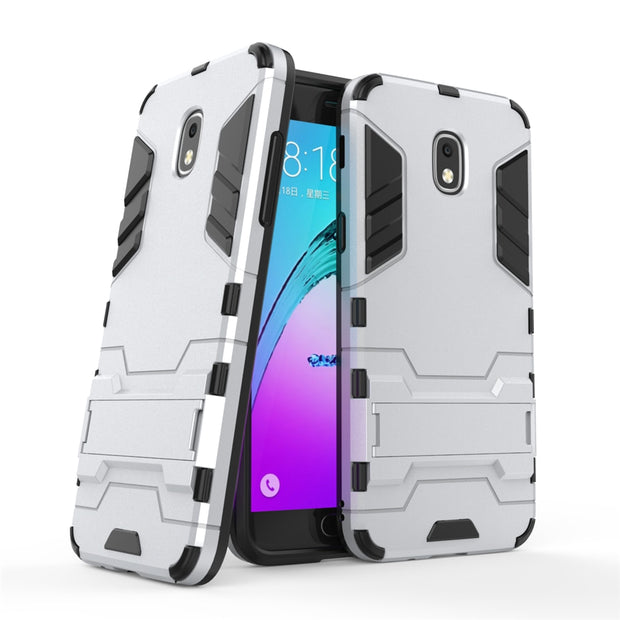 ZIHFONE Armor Case For Samsung Galaxy J3 2018 Silicone Hard PC+TPU Cover Cases For Samsung Galaxy J3 2018 Coque Protection Shell
