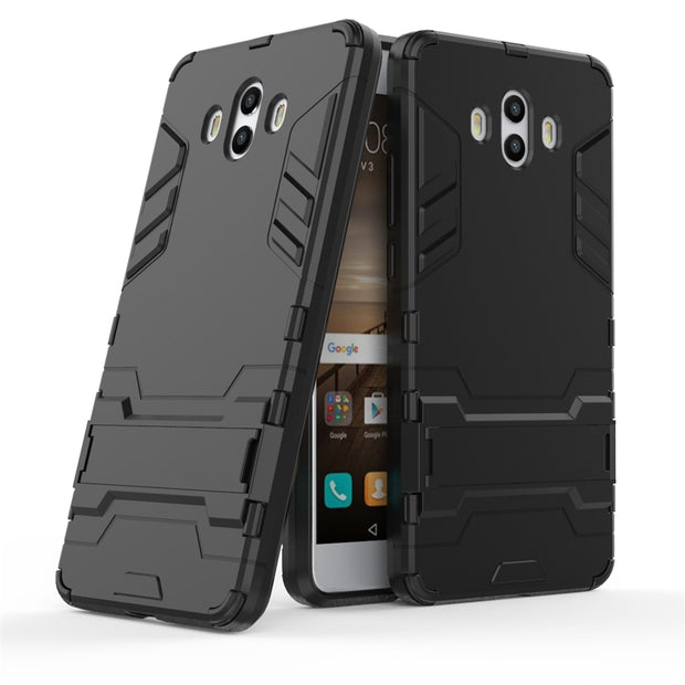 ZIHFONE Plastic Hard Armor Case For Funda Huawei Mate 10 Slim Bumper Protection Stand Phone Case On Huawei Mate 10 Back Cover