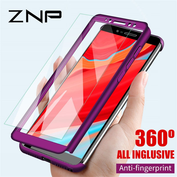 ZNP Full Cover Phone Case For Xiaomi Redmi S2 6A 6 Pro 5 Plus 5A Shockproof Protective Case For Redmi 5 Plus Note 5A With Glass
