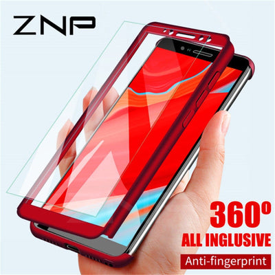 ZNP Luxury 360 Degree Full Cover Phone Case For Xiaomi Redmi 4X 5 Plus 5A 6A Shockproof Cover For Redmi 6 Pro Note 5 Pro Cases