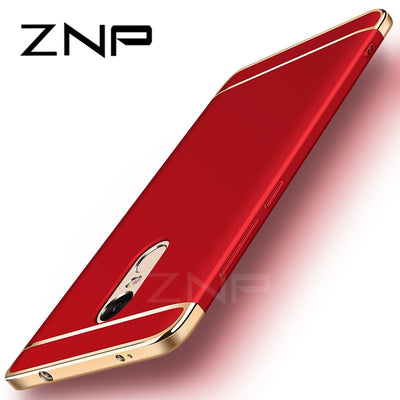 ZNP Luxury PC Hard Shockproof Cases For Xiaomi Redmi Note 4 Pro Note 4X For Redmi Note 4 Global Version Electroplate Phone Cover
