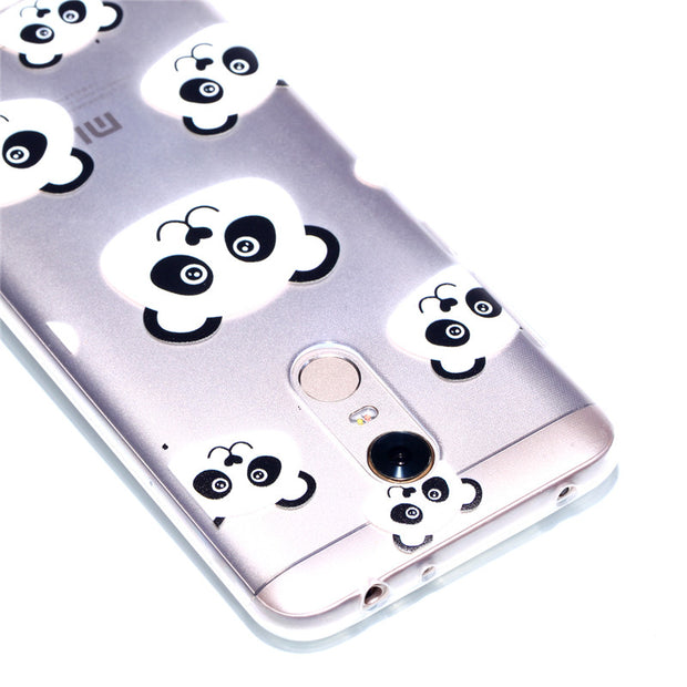 ZRICKIE Cute Animals Panda Unicorn Pattern Clear Soft TPU Phone Case For Xiaomi Redmi Note 5A Ultra Thin Slim Silicone Back Capa