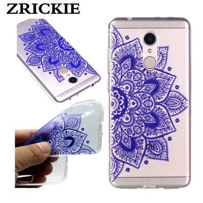 ZRICKIE Cute Printed Slim Clear Crystal Soft Gel TPU Case For Xiaomi Redmi 5 Plus Transparent Silicone Cover For Xiaomi Redmi 5