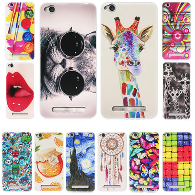 ZUCZUG Case For Xiaomi Redmi 4A Cover 3D Relief Print Soft TPU Case For Xiomi Redmi Case For Redmi 4A Prime Cover