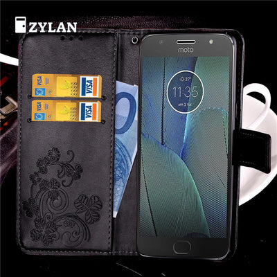 ZYLAN Flip PU Leather Case Cover Stand For Motorola Moto G4 G4 Plus G4 Play G5 G5 Plus G6 G5S G6 Plus G5S Plus & FREE GIFT