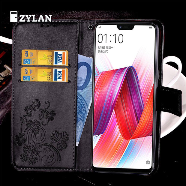 ZYLAN Flip PU Leather Flower Case Cover For OPPO R9 R9 PLUS R9S R9S PLUS R11 R11 Plus R11S R11S Plus R15 R15 Dream Mirror & GIFT