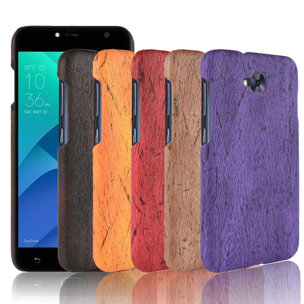 Zenfone 4 Selfie ZD553KL ZB553KL Case Cover Wood Grain PU Leather Protective Hard Case For Coque Asus ZD553KL ZB553KL Phone Case