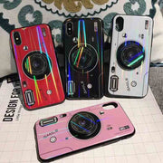 Zxtrby For Iphone XS Max XS XR X 6 6S 7 8 Plus IPhone Case Plaid Cloth Fur Hair Bee With Lanyard Soft Mobile Bag Cover