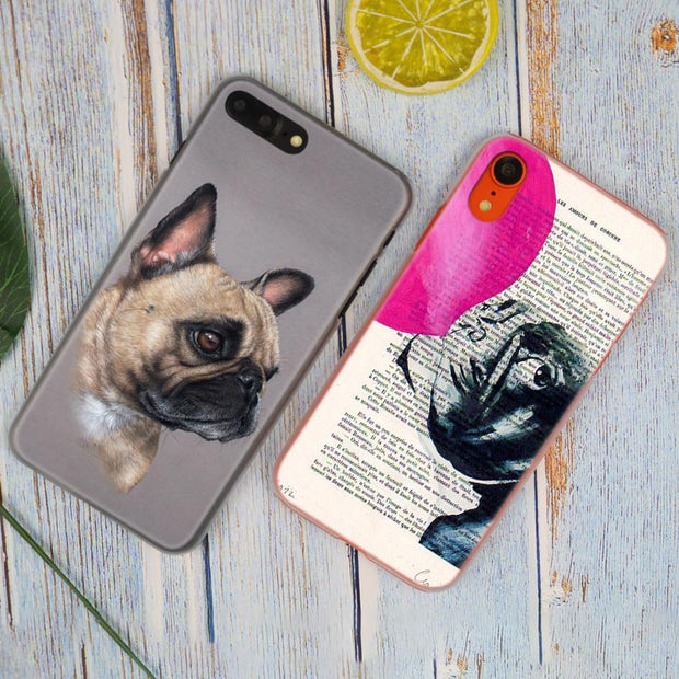 Boston Terrier Watercolor Hot Fashion Transparent Hard Phone Cover Case For IPhone X XS Max XR 8 7 6 6s Plus 5 SE 5C 4 4S