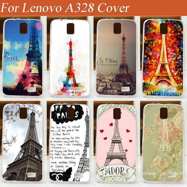 new styles 0316b c75ae Case Cover For Lenovo A328 A328t High Quality Diy Eiffel Tower Cellphone  Cover Case New Style Skin Shell For Lenovo A328