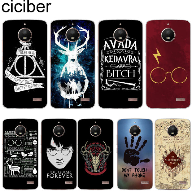 Ciciber Harry Potter For Motorola Moto C Z2 Z3 ONE P30 G4 G5 G5S G6 E3 E4 E5 Play Plus Power M X4 Soft Phone Cases Cover Clear