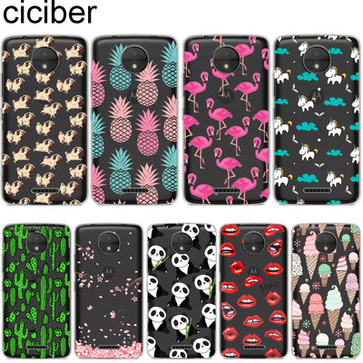 Ciciber For Motorola Moto C Z2 Z3 ONE P30 G4 G5 G5S G6 E3 E4 E5 Play Plus Power M X4 Soft Silicone Phone Cases Cover Clear TPU
