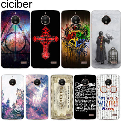 Ciciber For Motorola Moto C Z2 Z3 ONE P30 G4 G5 G5S G6 E3 E4 E5 Play Plus Power M X4 Soft Phone Cases Cover Clear Harry Potter