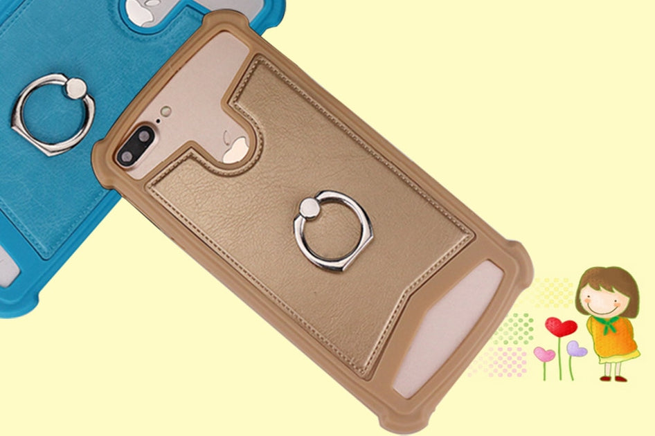quality design a3d83 fe86c Cover Soft Silicone Case With Ring For LEAGOO ELITE 2 For LEAGOO Elite 3  For LEAGOO LEAD 1