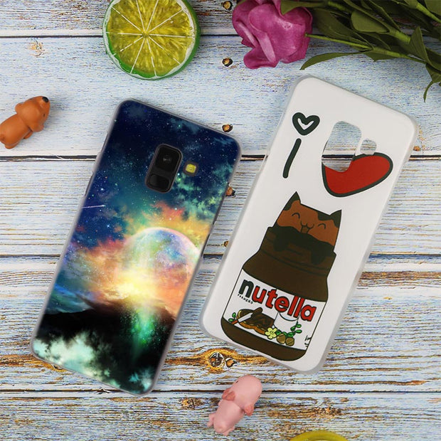 Cute Kawaii Sky Space Fashion Transparent Case For Samsung Galaxy A3 A5 A9 A7 A6 A8 Plus 2018 2017 2016 Star A6S Note 9 8 Cover