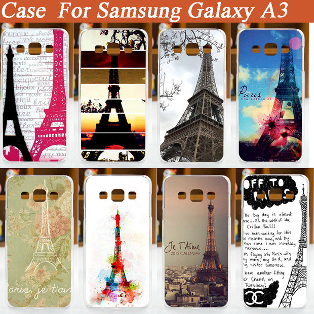 Diy Painted Eiffel Tower Case Cover For Samsung Galaxy A3 A3000 A300 A300F/ Pattern Painting Colored For Samsung Galaxy A3 Cover