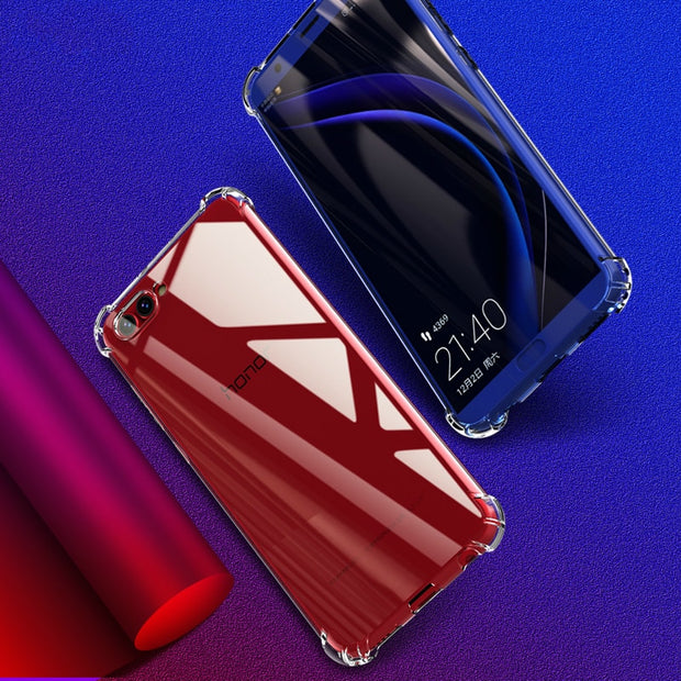 For Honor View 10 Case Shockproof Silicone TPU Transparent Back Cover For Huawei Honor V10 View10 Honor10 V 10 Phone Soft Shell