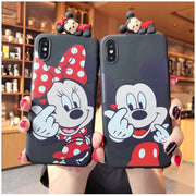 For Iphone XR XS Max Case Cover Fashion Cute 3D Cartoon Case Mickey Minnie Silicone Soft Phone Cases For IPhone X 6 6S 7 8 Plus