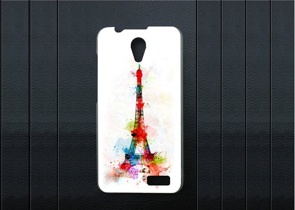 High Quality Pattern Painting Eiffel Tower Cover Case For Lenovo A319 Diy 3d Painted Hard Plastic Colored For Lenovo A319 Case