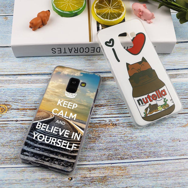 Keep Calm Love Allah Fashion Transparent Case For Samsung Galaxy A3 A5 A9 A7 A6 A8 Plus 2018 2017 2016 Star A6S Note 9 8 Cover