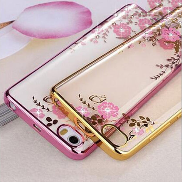 Koosuk Soft TPU Plating Case For Xiaomi Redmi 6A Luxury Flower Silicone Clear Cover For Xiaomi Redmi 6 6a A Phone Cases Coque