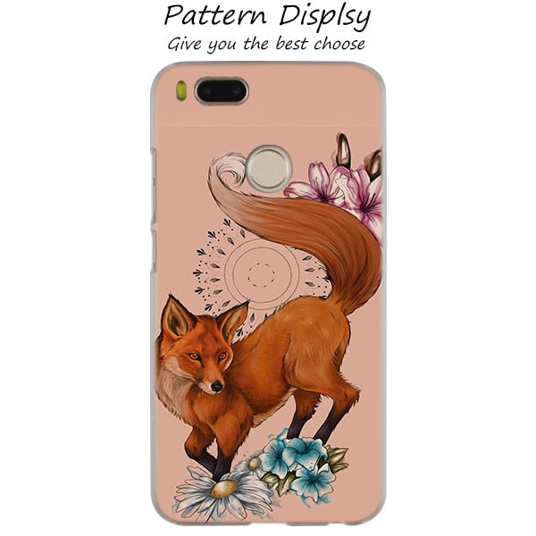 Lovely Cute Snow Fox Fashion Clear Cover Case For Xiaomi F1 5X 6X A2 A1 6  Plus 8 Lite SE Mix Max 2 2S 3 Note 3 2 Redmi Note 4 4X