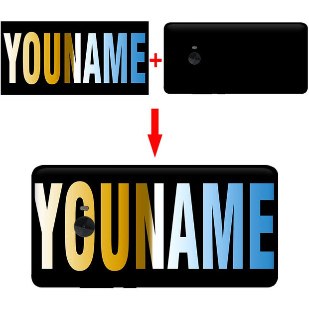 Mosirui For Xiaomi Mi Note2 Personalized Customized DIY Name Photo Cover Case Colorful Black TPU Silicone Printed Phone Shell