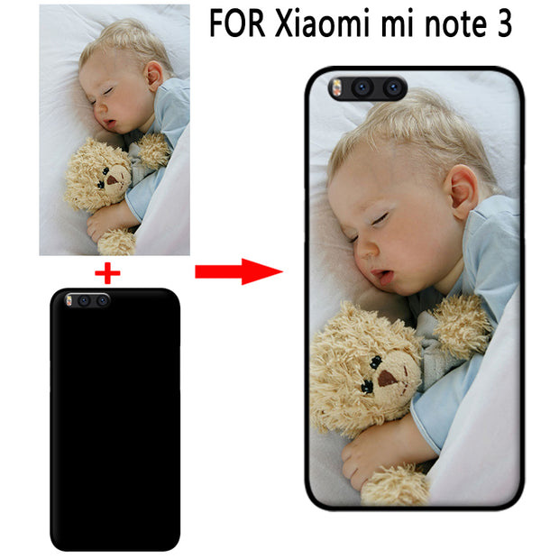 Mosirui Personalized Customized DIY Case FOR Xiaomi Mi Note3 HD UV Printing Cover Soft TPU Silicone Back Case