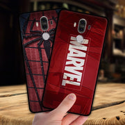 Mosirui For Huawei Mate 9 Pro Case Marvel Hero Deadpool Spiderman Black Panther Hulk Silicone Soft Shell Black Matte Phone Case