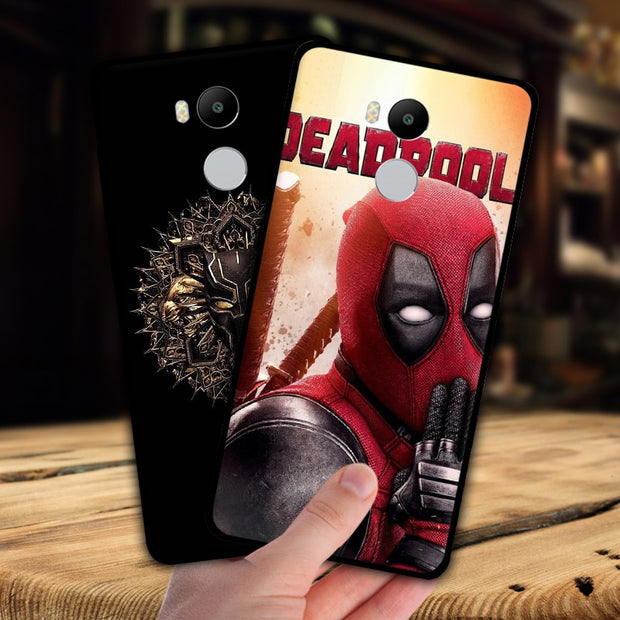 Mosirui For Xiaomi Redmi 4 Pro Case Marvel Hero Deadpool Spiderman Black Panther Hulk Silicone Soft Shell Black Matte Case