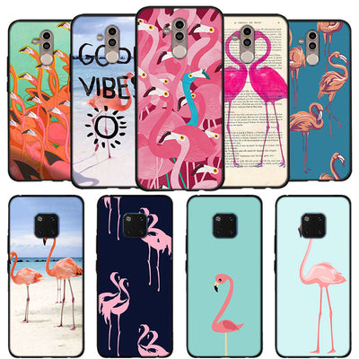 My Pink Flamingo Phone Case For Huawei Mate 10 20 Lite Soft Silicone Coque Fundas Case For Mate 9 10 20 Pro Case